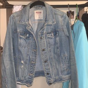 Semi-Cropped Blue Jean Jacket